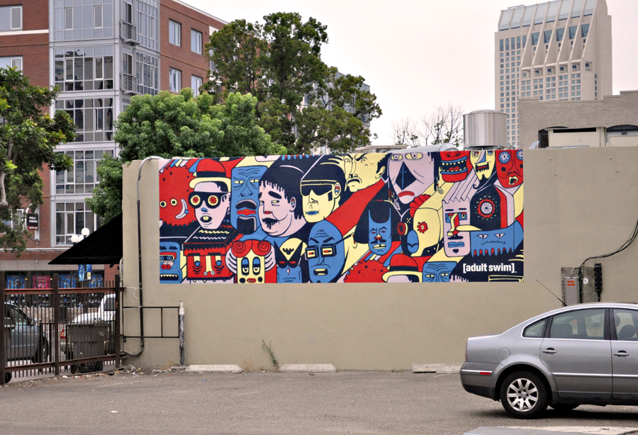 Adult Swim Comic-Con Mural in San Diego