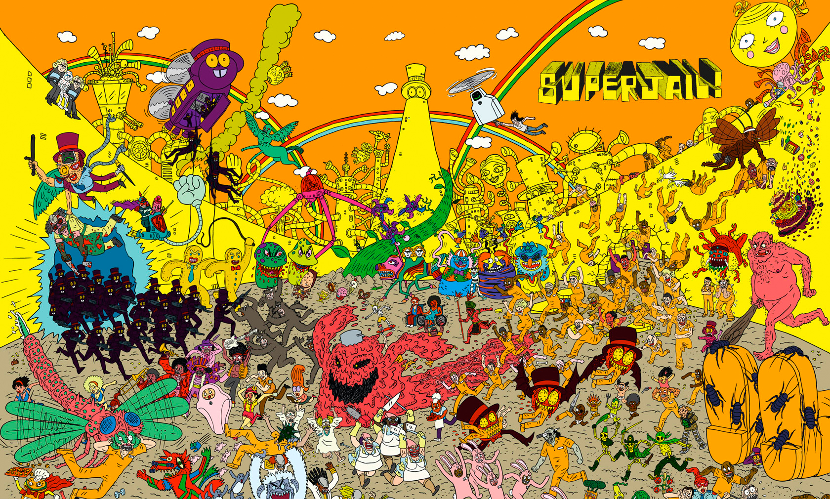 ... this March when Adult Swim and Warner Home Video bring Superjail!